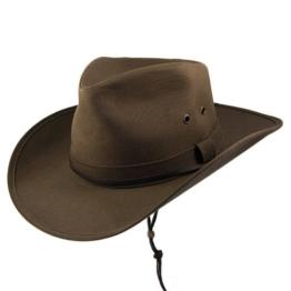 Jaxon & James Aussie Cowboyhut aus Wachsstoff - M -