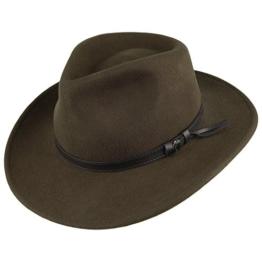 Jaxon & James Knautschbarer Outback Cowboyhut -Olivgrün - XXL -