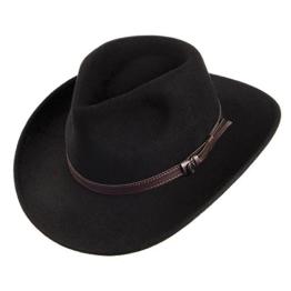 Jaxon & James Knautschbarer Outback Cowboyhut - Schwarz - XXL -
