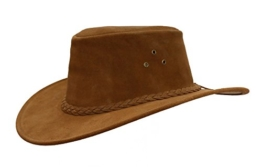 Kakadu Traders softer Wildlederhut ECHUCA hergestellt in Australien -