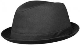 KANE SCHWARZ Player Hut Playerhut mit UV-Schutz aus Baumwolle von Stetson - 58 -