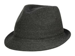 Kangol Cotton Rib Arnold Trilby Hut aus Stoff - black S/54-55 -