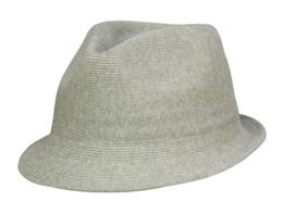 Kangol Cotton Rib Arnold Trilby Hut aus Stoff - grey S/54-55 -