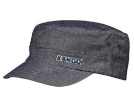 Kangol Denim Army Cap Schirmmütze aus Baumwolle - indigo L/XL -