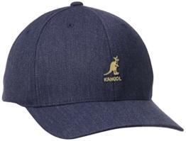 Kangol Herren Cap Wool Flexfit Baseball, Blau-Blau (Denim), S/M -