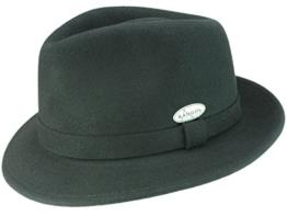 Kangol Hiro Trilby Hut Trilby Filzhut aus Wollfilz - schwarz XL/60-61 -