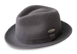 Kangol LiteFelt Hiro Trilby Filzhut Trilby Hut aus Wolle - darkgrey XL/60-61 -