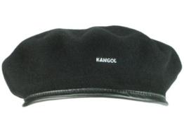Kangol Monty Beret Beret Baskenmütze aus Wolle - schwarz L/58-59 -