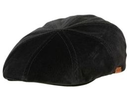 Kangol Stretch Ripley Ballonmütze Schirmmütze - black velvet cord L/XL -