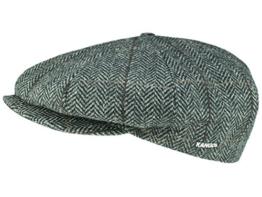 Kangol Tweed Ripley Ballonmütze Schirmmütze aus Wolle - grau S/54-55 -