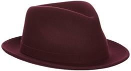 Kangol Unisex Trilby Litefelt® Hiro Trilby, Rot (Weinrot), Large (Herstellergröße: Large) -