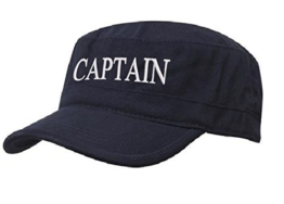Kapitänsmütze Mütze Army Military Baseballmütze Cap Schiff Yacht Captain,First Mate,Crew,Cabin Boy,Pirate ( Captain Nave white) -