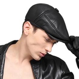 Kenmont Winter Herren Ziegenleder Echtleder Earflap Cabbie Ivy Zeitungsjunge-Masken-Hut Cap -