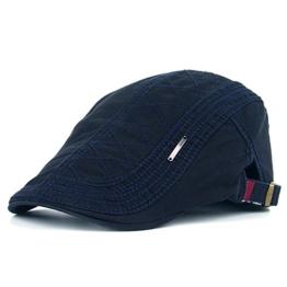 Kuyou Sportmütze Newsboy Flat Cap Gatsby Schirmmütze Kappe (Navy) -