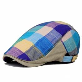 Kuyou Trendige Unisex Gatsby Flatcap Schiebermütze Ivy Sport Kappe (Blau) -