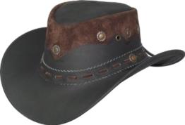 Lederhut aus feinstem Leder, Farben:schwarz, Größe:XL -