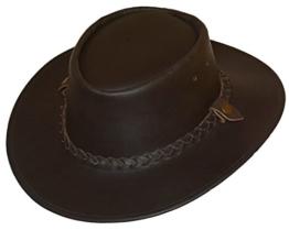 """Lederhut """"Sorrento"""" - Cowboyhut 100% Vollleder, Braun, Größe XL -"""