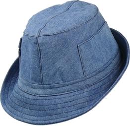 leichter Stoffhut mit seitlichen Taschen, Kopfgröße:57;Farben:jeansblau -