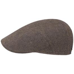 Leinen-Baumwolle Ivy Flatcap Schirmmütze Sommercap Sonnencap Sommermütze Herrencap Cap Kappe Stetson Leinencap Schirmmütze (58 cm - braun) -