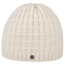 Lierys Checker Beanie Mütze für Damen Herren Pull On Herrenmütze mit Futter, mit Futter Herbst Winter (One Size - cremeweiß) -
