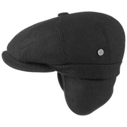 Lierys City Teflon Flatcap Ohrenklappen Schirmmütze Ohrenschutz Wollmütze Regenmütze Schiebermütze für Damen Herren Schiebermütze Schirmmütze mit Schirm, mit Ohrenklappen, mit Futter, mit Schirm, mit -