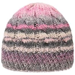 Lierys Filippa Zopfstrickmütze Strickmütze Mütze Beanie Wintermütze Skimütze Wollmütze für Damen Herren Strickmütze Wollmütze mit Futter, mit Futter Herbst Winter (One Size - rosa) -