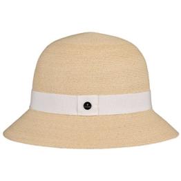 Lierys Lamita Glocke Hanfhut Hut Damenglocke Strohhut Sommerhut Glockenhut Sonnenhut für Damen Glockenhut Damenhut mit Ripsband Frühjahr Sommer (One Size - hellbeige) -