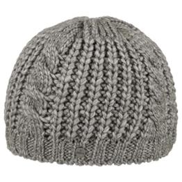 Lierys Longby Beanie Strickmütze Skimütze für Damen Herren Kinder Beanie Damenmütze mit Futter, mit Futter, mit Futter Herbst Winter (One Size - grau) -