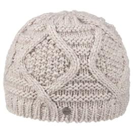 Lierys Malita Strickmütze Skimütze für Damen Skimütze Damenmütze mit Futter, mit Futter, mit Futter Herbst Winter (One Size - natur) -