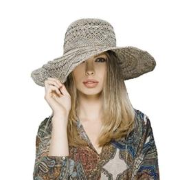 Loevenich Damen Sommer Flapper aus Seegras Schlapphut aus Naturmaterial -