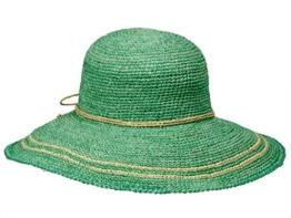 Loevenich GW-055 Damen Hut Flapper Schlapphut aus Stroh - grün -
