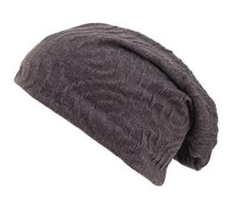 """Long Beanie """"Slide"""" von Ella Jonte doppellagig mit fließendem Falten-Muster in grau oder braun - die hippe Trendsettermütze im Oversize-Look - kombiniert perfekt Style und Komfort -"""