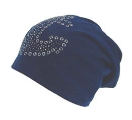 Long Beanie von Ella Jonte im hippen Oversize-Look blau mit Anker -