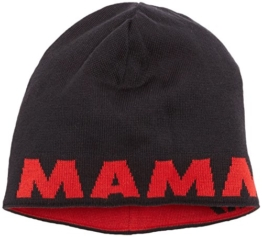 Mammut Erwachsene Beanie Logo, Black-Inferno, One Size, 1090-04890-0575-1 -