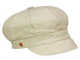 Mayser Alexa Damen Ballonmütze mit UV-Schutz knautschbar aus Baumwolle - beige L/58-59 -