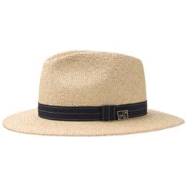 Mayser Andrew Panama Hut Traveller Hut aus Panamastroh mit blauem Hutband - natur 61 -