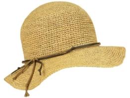 Mayser Brigitte Panamahut Damen Schlapphut aus Stroh - braun S/54-55 -