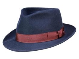 Mayser Bryen Fedora aus Haarfilz - blau 60 -