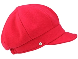 Mayser Camilla Ballonmütze Schirmmütze aus Wolle - rot L/58-59 -