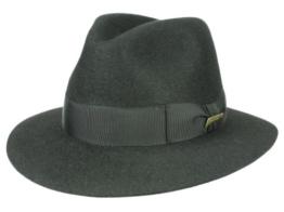 Mayser Classic Indiana Jones Fedora Filzhut - schwarz 58 -