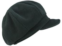 Mayser Constanze Ballonmütze Damenmütze Schirmmütze aus Wolle - schwarz S/54-55 -