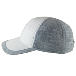Mayser Cotton Linen Basecap Jimmy Weiss-Grau 60 -