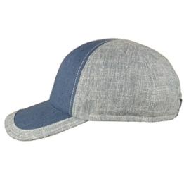 Mayser Cotton Linen Basecap Jimmy Blau-Grau 56 -