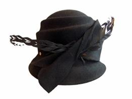 Mayser Damen Trachtenhut Glockenform Wollfilz 1279211-1206-8001 schwarz -
