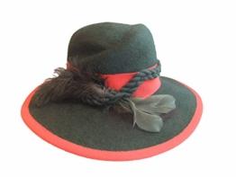 Mayser Damen Trachtenhut Wollfilz 11781 grün- rot -