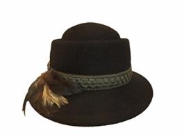 Mayser Damen Trachtenhut Wollfilz 11607 schwarz -
