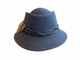 Mayser Damen Trachtenhut Wollfilz 11616 blau -