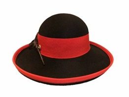 Mayser Damen Trachtenhut Wollfilz 11754 schwarz- rot -