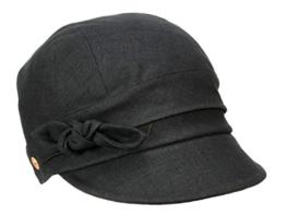 Mayser Emily Damenmütze Ballonmütze aus Leinen - schwarz L/58-59 -