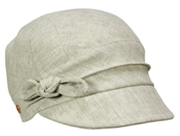 Mayser Emily Damenmütze Ballonmütze aus Leinen - natur L/58-59 -